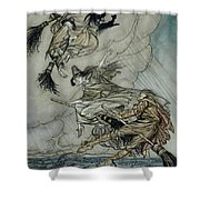 Witches, 1907 Shower Curtain
