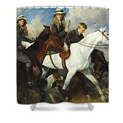 With The York And Ainsty, The Children Of Mr Edward Lycett Green Shower Curtain