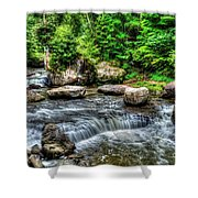 Wolf Creek Falls, New River Gorge, West Virginia Shower Curtain