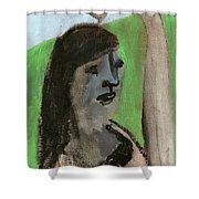Woman By A Tree Shower Curtain