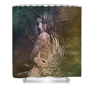 Woman In Distress Shower Curtain