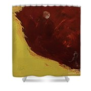 Woman In Moonlight Shower Curtain