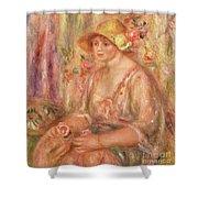 Woman In Muslin Dress, 1917 Shower Curtain