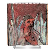 Woman In Reeds Shower Curtain
