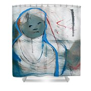 Woman On Her Own Shower Curtain