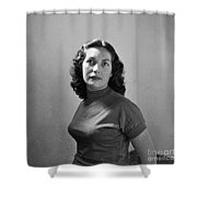 Woman Posed Shower Curtain
