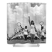 Women And Rings Shower Curtain