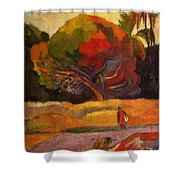Women At The Riverside 1892 Shower Curtain
