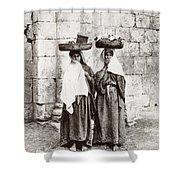 Women From Siloan In Jerusalem Shower Curtain