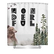 Wonderful Inspirational Poster Shower Curtain by Celestial Images