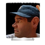 Wood Carving - Babe Ruth 002 Profile Shower Curtain