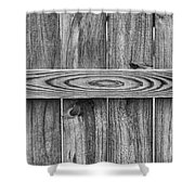 Wood Grain Black And White Shower Curtain