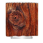 Wood Knot Shower Curtain by ISAW Company
