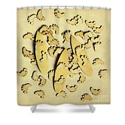 Wooden Wave Riders Shower Curtain