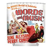 Word And Music 1948 Film Shower Curtain