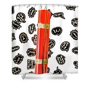 Words As A Weapon Shower Curtain
