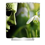 Working In Harmony Wth Nature Concept Shower Curtain
