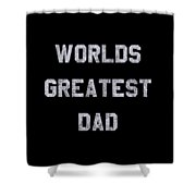 Worlds Greatest Dad Vintage Shower Curtain