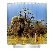 Wrapped Lion Shower Curtain