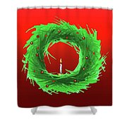 Wreath2 Shower Curtain