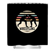 Wrestling Art Shower Curtain