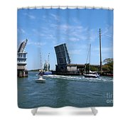 Wrightsville Beach Bridge In North Carolina Shower Curtain
