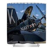 Ww2 F4u Corsair  Shower Curtain
