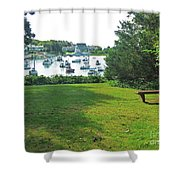 Wychmere Harbor Cape Cod Morning Shower Curtain