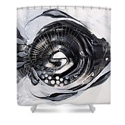 X Ray Fish Shower Curtain