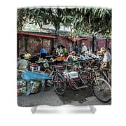 Yangon Market Shower Curtain