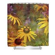 Yellow Among Purple 4234 Idp_2 Shower Curtain
