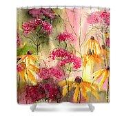Yellow Ballerinas Shower Curtain