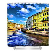 Yellow Canal Shower Curtain