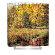 Yellow Forest Shower Curtain
