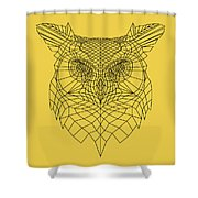 Yellow Owl Shower Curtain