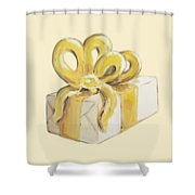 Yellow Present Shower Curtain