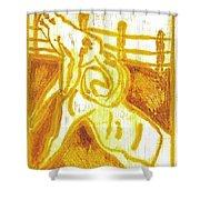 Yellow Ram Shower Curtain