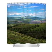Yellow Stone National Park Where Bears Live  Shower Curtain
