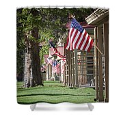 Yellowstone Flags Shower Curtain