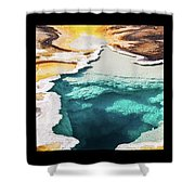 Yellowstone Hot Springs Triptych Shower Curtain
