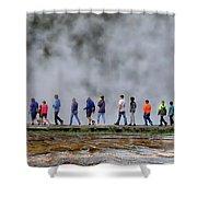 Yellowstone Lineup Shower Curtain