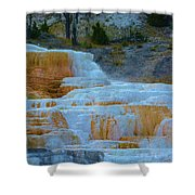 Yellowstone Mineral Deposits Shower Curtain