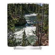 Yellowstone Rapids Shower Curtain