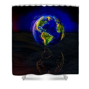 Yesterday, Today And Tomorrow Shower Curtain by Paul Wear