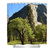 Yosemite Valley Serenity Shower Curtain