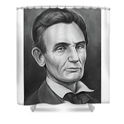 Young Lincoln Lawyer Shower Curtain