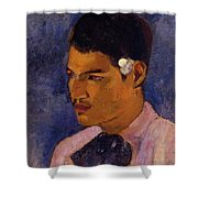 Young Man With A Flower Behind His Ear 1891 Shower Curtain