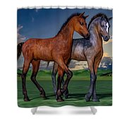 Young Spirits Shower Curtain