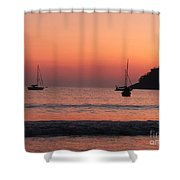 Z For Zihuatanejo Shower Curtain