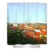 Zagreb Roofs Ne Shower Curtain